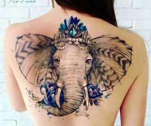 elefante, elephant, and Tattoos image