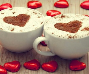 coffee, heart, and cappuccino image