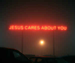 jesus, neon, and red image