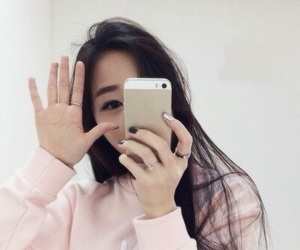 asian, pink, and girl image