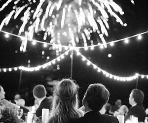 fireworks, couple, and wedding image