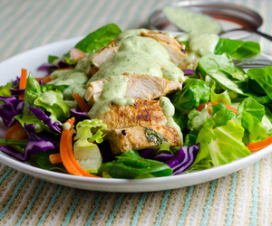 Chicken, dressing, and grilled image