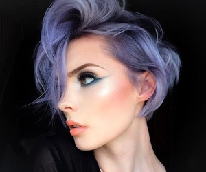hair, makeup, and violet image