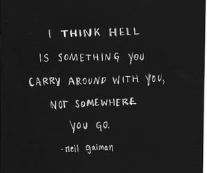 quotes, hell, and sad image