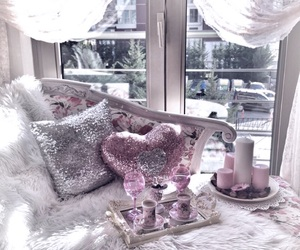 candles, drink, and glam image