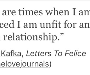 kafka, quotes, and Relationship image