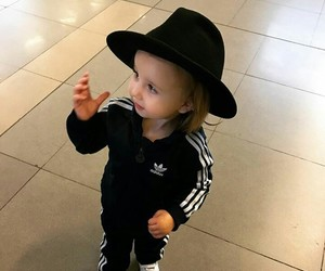 adidas, black, and daughter image