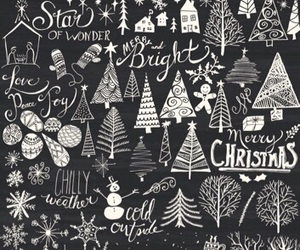 background, christmas tree, and patterns image