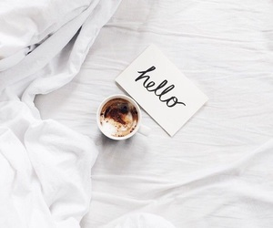 coffee, hello, and white image