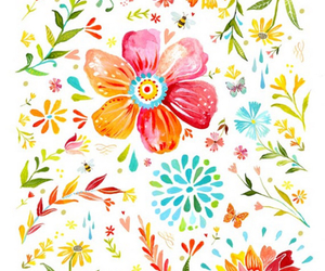 flowers, pretty, and art image