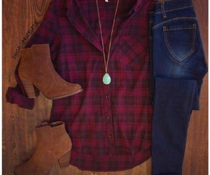 fashion, plaid, and country girl image