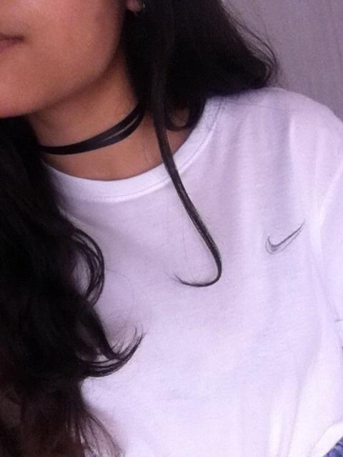 girl, nike, and teeshirt image