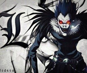 death note, L, and ryuk image