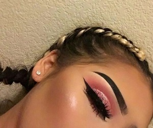 beauty, eyebrows, and braids image