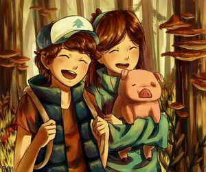 forest, pig, and cute image
