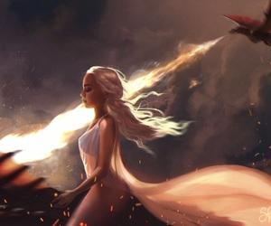 anime, dragon, and fan art image