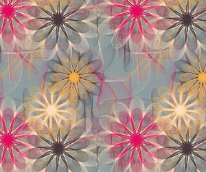 background, colors, and floral image