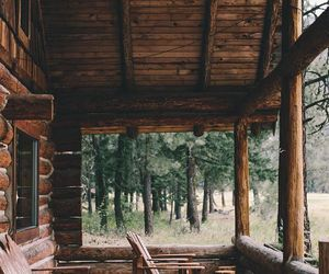nature and cabin image