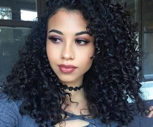 beautiful, beautiful girl, and curly image