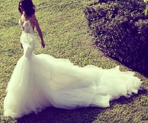 dress, married, and love image