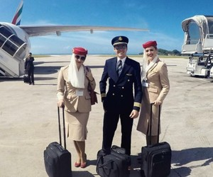 crew, emirates, and flight attendant image
