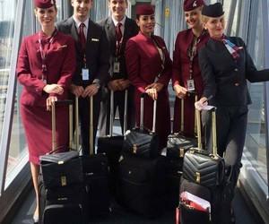 aviation, crew, and flight attendant image
