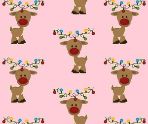 christmas, pattern, and reindeer image