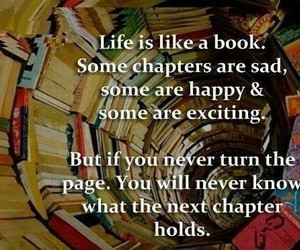 book, chapter, and happy image