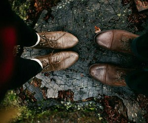 boots, woodsy, and wintery image
