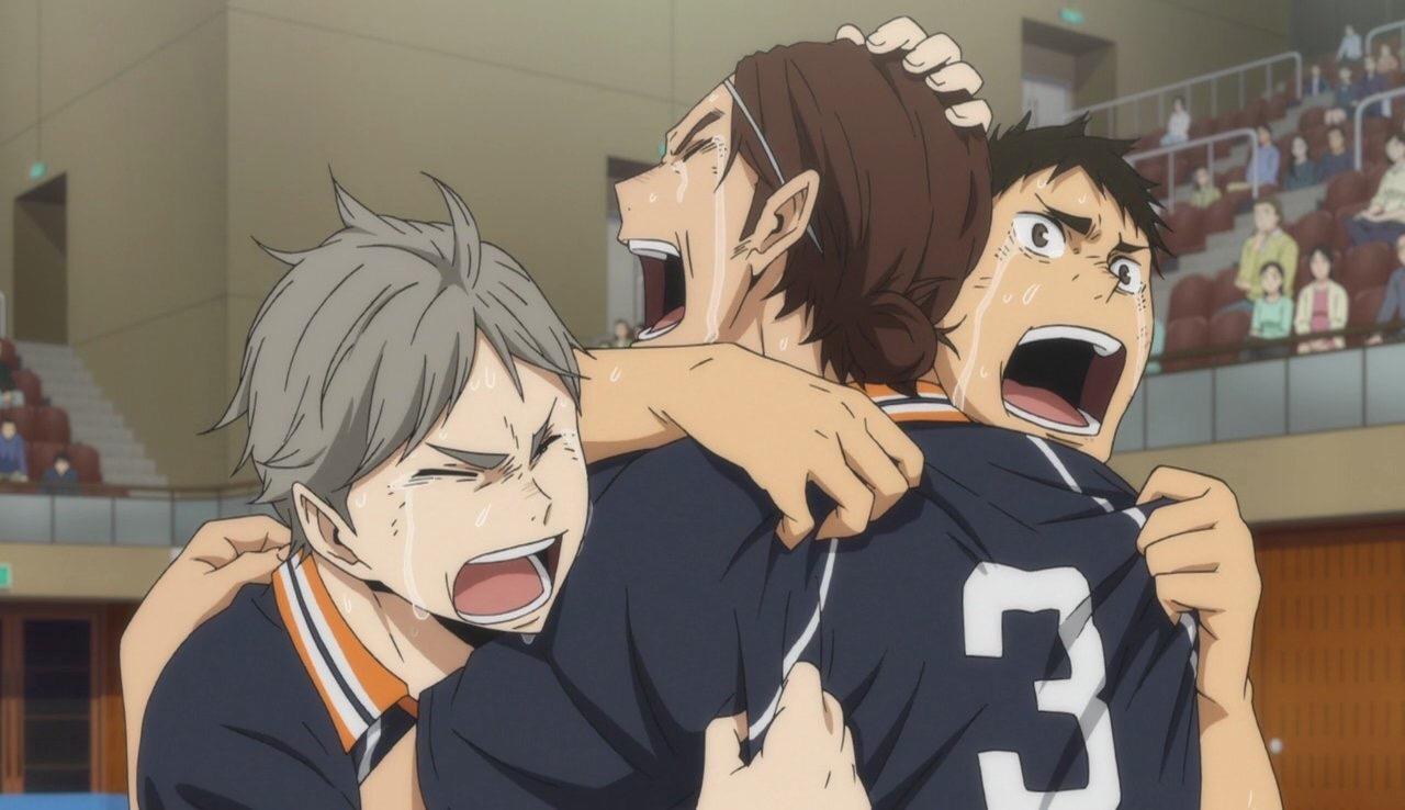 anime, haikyuu season 3, and gif image