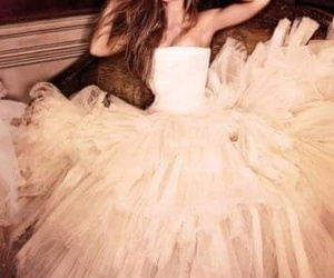 beautiful, pink dress, and wedding image