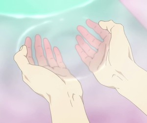 anime, pastel, and water image