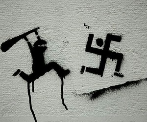 kkk, racist, and nazi image