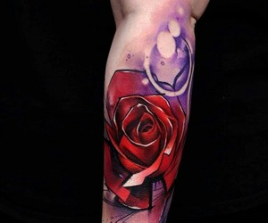 ink, tatto, and tattooed image