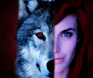 once upon a time, red riding hood, and wolf image