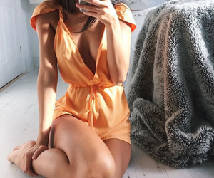 clothes, dress, and orange image