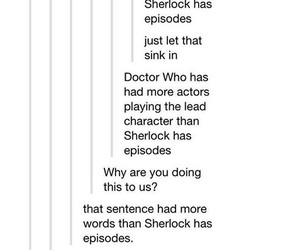 doctor who, funny, and sherlock image