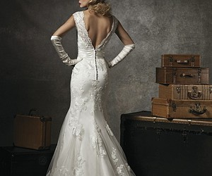 dress, lace, and vintage image