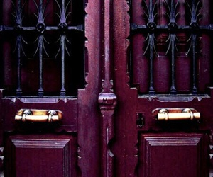 door, dark, and raspberry image
