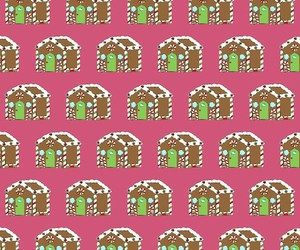 christmas, gingerbread house, and wallpaper image