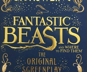 harry potter, fantastic beasts, and book image