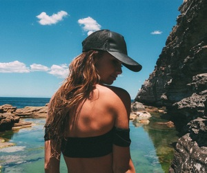 beach, girl, and inspo image