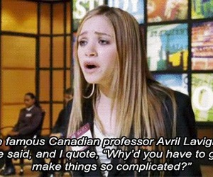 Avril Lavigne, new york minute, and quote image