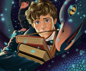 art, harry potter, and newt image