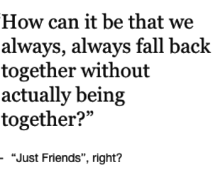best friends, just friends, and quote image
