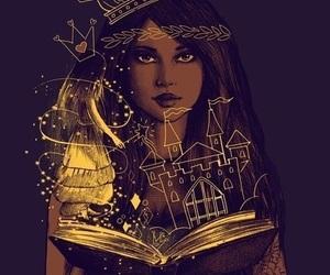 book, princess, and art image