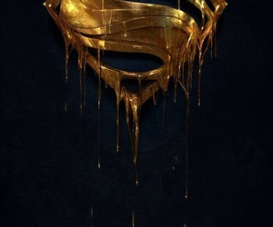 gold, superman, and schön image