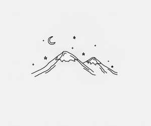 mountains, stars, and aesthetic image