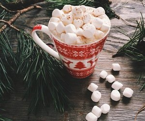 christmas, winter, and marshmallow image
