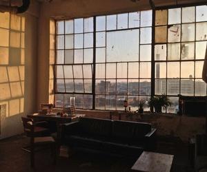 window, sunset, and city image